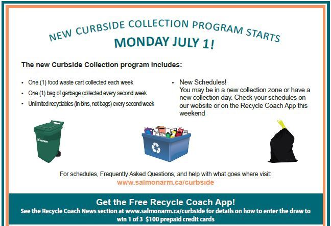 Curbside Collection Start July 1st